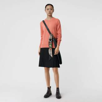 Burberry Archive Logo Applique Cashmere Sweater, Pink