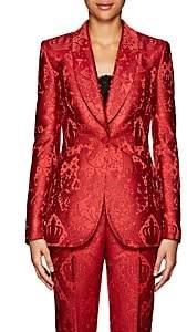Dolce & Gabbana Women's Jacquard Satin One-Button Blazer - Red