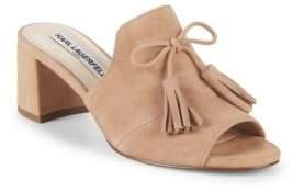 Block Heel Suede Sandals