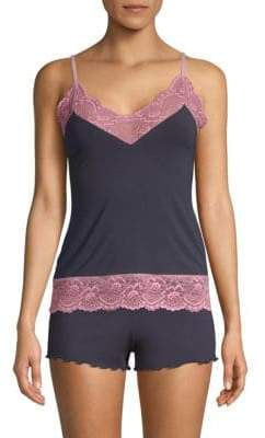 Samantha Chang Lace-Trimmed Camisole