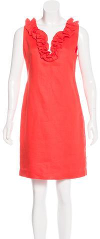Kate SpadeKate Spade New York Ruffle-Trimmed Sleeveless Dress