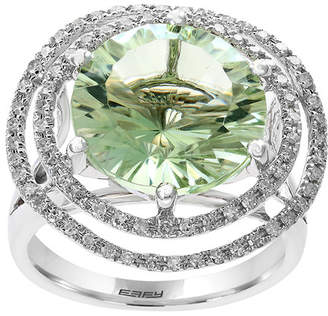 Effy Fine Jewelry 14K 8.78 Ct. Tw. Diamond & Green Amethyst Ring