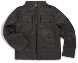 Urban Republic Little Boy's Faux Leather Flap Pocket Jacket
