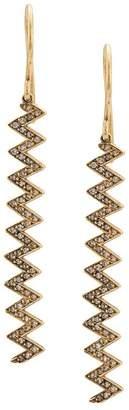 Jennifer Meyer 18kt yellow gold zigzag drop earrings