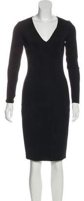 Ralph Lauren Black Label Long Sleeve Knee-Length Dress