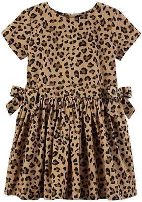 Carter's Short Sleeve Fitted Sleeve A-Line Dress - Toddler Girls