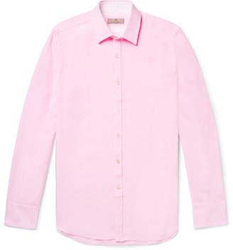 Canali Slim-Fit Slub Linen Shirt - Men - Pink