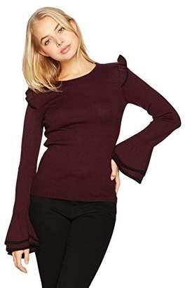 Amy Byer A. Byer Crew Neck Bell Sleeve Sweater (Junior's)