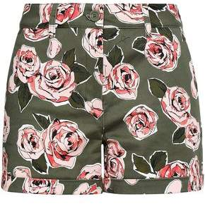 Love Moschino Floral-print Stretch-cotton Twill Shorts