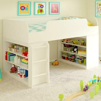 LOFT Mack & Milo Amak Twin Low Bed with Ladder and Bookcase Mack & Milo
