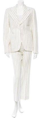 Maison Martin Margiela Pinstripe Wool Pantsuit w/ Tags $1,125 thestylecure.com