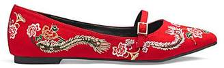 Monica Embroidered Shoe Extra Wide EEE Fit