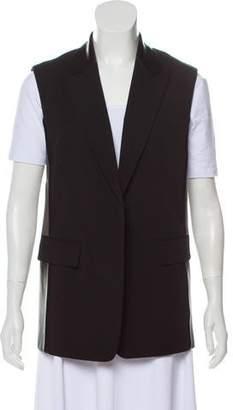 Reed Krakoff Leather-Accented Peak-Lapel Vest