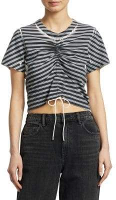 Alexander Wang Striped Cotton Tee