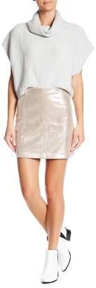 Free People Modern Femme Metallic Mini Skirt