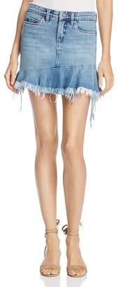 BLANKNYC Asymmetric-Ruffle Denim Skirt $88 thestylecure.com