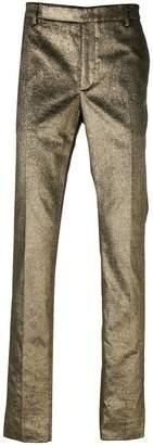 Saint Laurent metallic tailored trousers