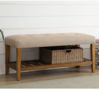 Charlton Home Warwickshire Wood Storage Bench Upholstery