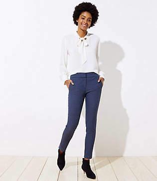 LOFT Petite Skinny Ankle Pants in Check in Marisa Fit