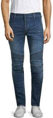 Balmain Distressed Moto Jeans