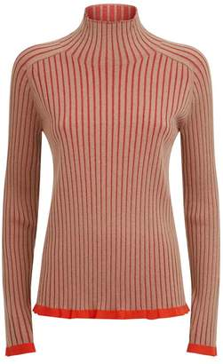Burberry Two Tone Ribbed Sweater