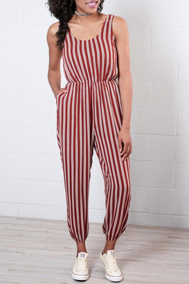 Everly Striped Jumpsuit $63 thestylecure.com