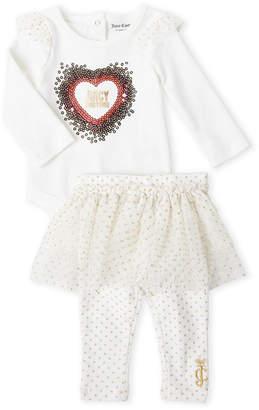 Juicy Couture Newborn Girls) Two-Piece Bodysuit & Tutu Leggings Set