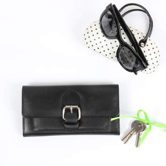 The Leather Store Linden Leather Buckle Purse