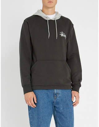 Stussy Two-tone cotton-jersey hoody