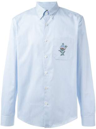 bcf5aa5be089 Gucci floral embroidered striped shirt