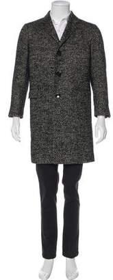Alexander McQueen Linen & Alpaca-Blend Geometric Jacquard Overcoat