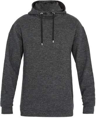 Hooded wool-jersey sweatshirt