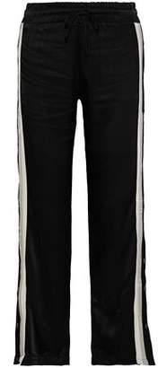 Monrow Striped Satin Track Pants