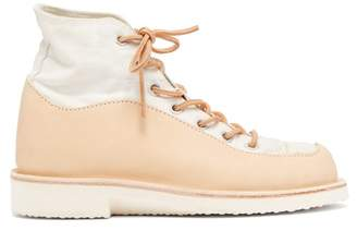 Peterson Stoop - Wavey Recycled High Top Trainers - Womens - Tan White