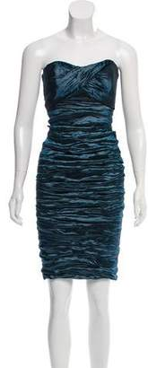 Nicole Miller Ruched Strapless Dress