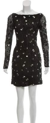 Diane von Furstenberg Embellished Mini Dress Black Embellished Mini Dress