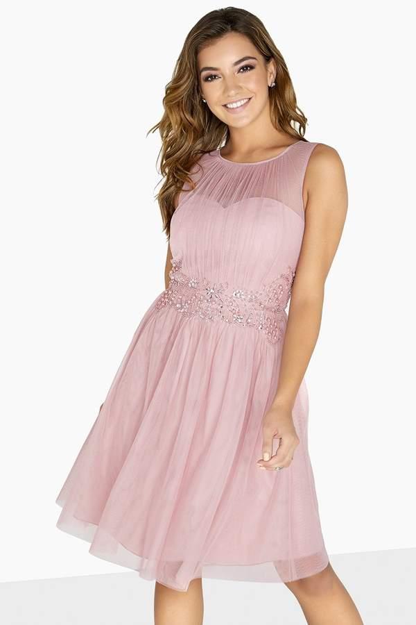 Kate Embellished Waist Prom Dress