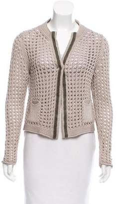 Fabiana Filippi Open Knit Long Sleeve Cardigan
