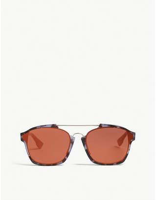 762a496b2bd1 at Selfridges · Christian Dior Ladies Tortoise Purple Luxury Abstract  Rectangle-Frame Sunglasses