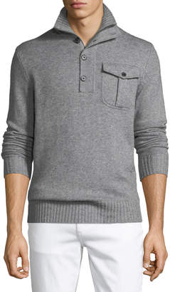 Neiman Marcus Men's Mock-Neck Pullover Sweater