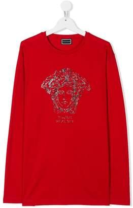 Versace (ヴェルサーチ) - Young Versace TEEN Medusa print T-shirt