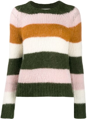 Parker Chinti & stripped knit jumper