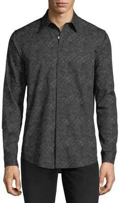 Theory Tonal-Print Long-Sleeve Sport Shirt