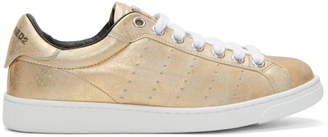 DSQUARED2 Gold Santa Monica Sneakers