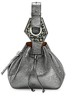 Ganni Women's Small Metallic Leather Bucket Bag