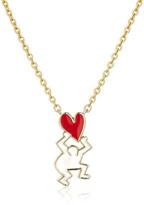 Keith Haring [キース・ヘリング ネックレス(ゴールド×レッド) HRMN000880DR