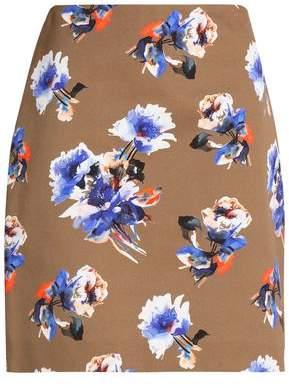 MSGM Floral-Print Cotton Mini Skirt