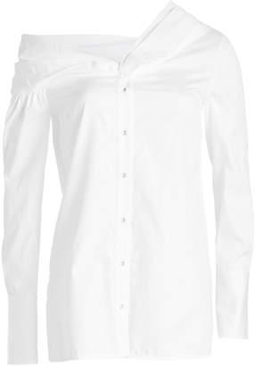 aa3871330bdd36 Victoria Victoria Beckham One Shoulder Cotton Shirt