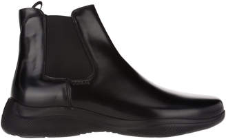 Leather Space Chelsea Boots