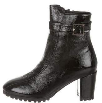 Sabrina NewbarK Patent Leather Ankle Boots w/ Tags
